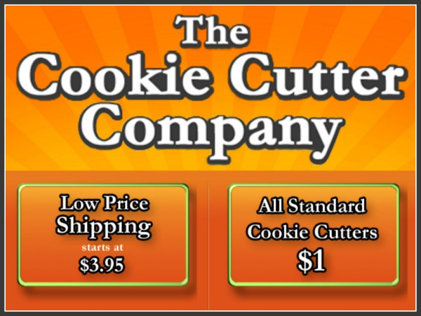 The Cookie Cutter Company, save 15 with coupon code SB15